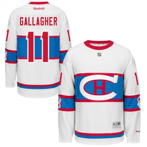 BRENDAN GALLAGHER Montreal Canadiens Reebok 2016 Winter Classic Premier Jersey - White