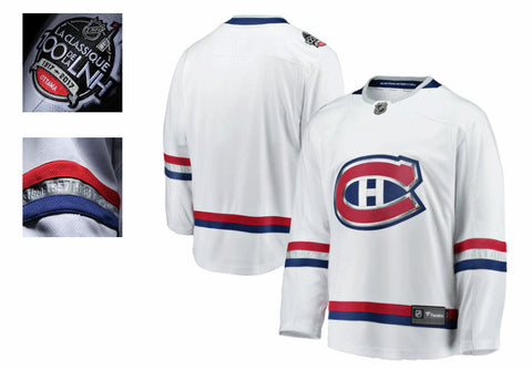 Men's Montreal Canadiens Fanatics Branded 2017 NHL 100 Classic Breakaway – Blank Jersey (White)