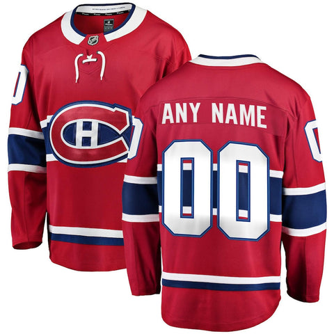 Customized Men's ANY NAME Montreal Canadiens Fanatics Branded Breakaway Jersey - Red