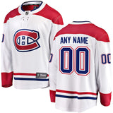 Customized Men's ANY NAME Montreal Canadiens Fanatics Branded Breakaway Jersey - White