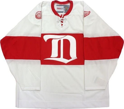 Customized Detroit Red Wings Vintage 1926 White Replica Jersey - CCM