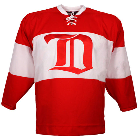 Customized Detroit Red Wings Vintage Replica Jersey 1926 Red - CCM