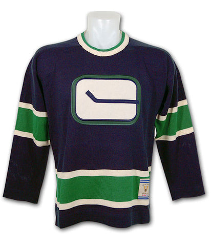 VANCOUVER CANUCKS 1972 HERITAGE SWEATER (Navy) - CCM / Reebok