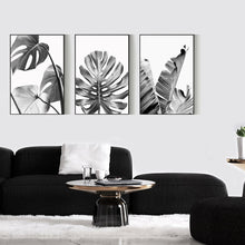 Load image into Gallery viewer, Black White Tropical Leaves