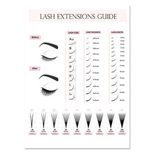 Load image into Gallery viewer, Eyelash Extension Style Guide