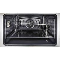 "Image of ILVE 30"" Majestic II Dual Fuel Range with Brass Trim in Glossy Black (UM30DQNE3BKG) - Shop For Kitchens"