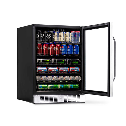 "NewAir 24"" Built-in 177 Can Stainless Steel Beverage Fridge (ABR-1770) - Shop For Kitchens"