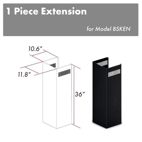Image of ZLINE 1-36 in. Extension Kit for 9 ft. to 10 ft. Ceilings (1PCEXT-BSKEN) - Shop For Kitchens
