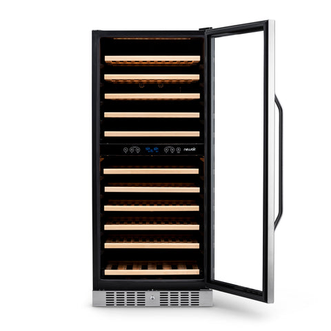 "Image of NewAir 27"" Built-in 116 Bottle Dual Zone Compressor Wine Fridge (AWR-1160DB) - Shop For Kitchens"