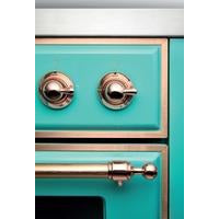 "ILVE 40"" Majestic II Series Induction Range with 6 Elements 3.82 cu. ft. Total Oven Capacity TFT Oven Control Display Bronze Trim in Midnight Blue (UMDI10NS3MBB) - Shop For Kitchens"