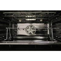 "Image of ILVE 30"" Nostalgie Series Freestanding Gas Range with 5 Burners 3 cu. ft. Oven Capacity Digital Clock and Timer Full Width Warming Drawer 2 Oven Racks and Chrome Trim: Midnight Blue (UPN76DVGGBLX) - Shop For Kitchens"