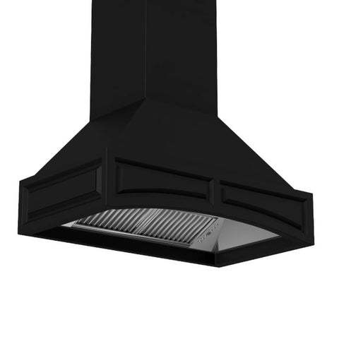 Image of ZLINE 36 inch Wooden Wall Range Hood in Black with Remote Motor (321CC-RS-36) - Shop For Kitchens
