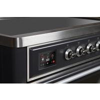 "ILVE 36"" Majestic II Series Induction Range with 5 Elements 3.5 cu. ft. Oven Capacity TFT Oven Control Display Chrome Trim in Matte Graphite (UMI09NS3MGC) - Shop For Kitchens"