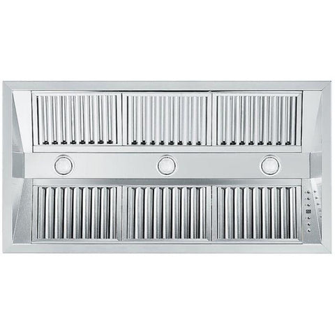 Image of ZLINE 40 in. 1200 CFM Range Hood Island Insert in Stainless Steel (721i-40) - Shop For Kitchens