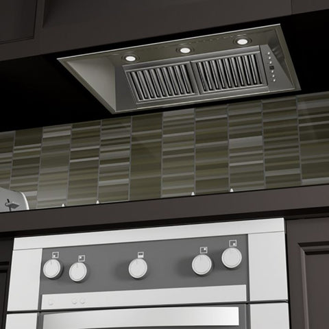 Image of ZLINE 34 in. 1200 CFM Range Hood Island Insert in Stainless Steel (721i-34) - Shop For Kitchens