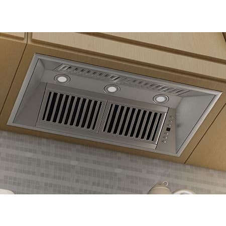 Image of ZLINE 34 in. 1200 CFM Range Hood Island Insert in Stainless Steel (824i-34) - Shop For Kitchens