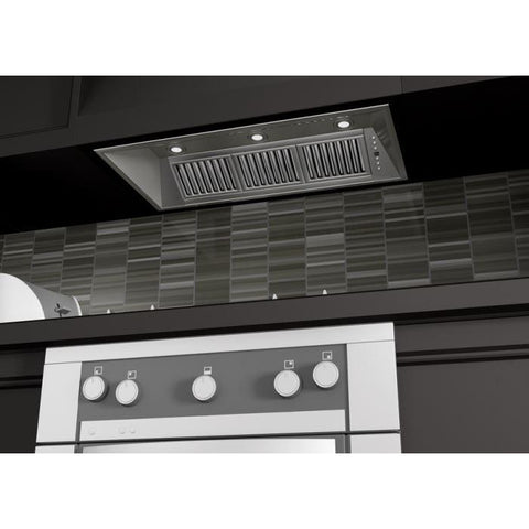 Image of ZLINE 40 in. 1200 CFM Range Hood Island Insert in Stainless Steel (824i-40) - Shop For Kitchens