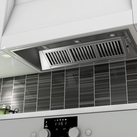 ZLINE 40 in. 1200 CFM Range Hood Island Insert in Stainless Steel (721i-40) - Shop For Kitchens