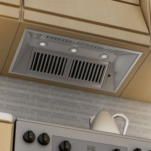 ZLINE 28 in. 1200 CFM Range Hood Island Insert in Stainless Steel (721i-28) - Shop For Kitchens