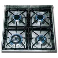 "ILVE 24"" Nostalgie Series Gas Range with Chrome Trim in Gloss Black (UPN60DVGGNX) - Shop For Kitchens"
