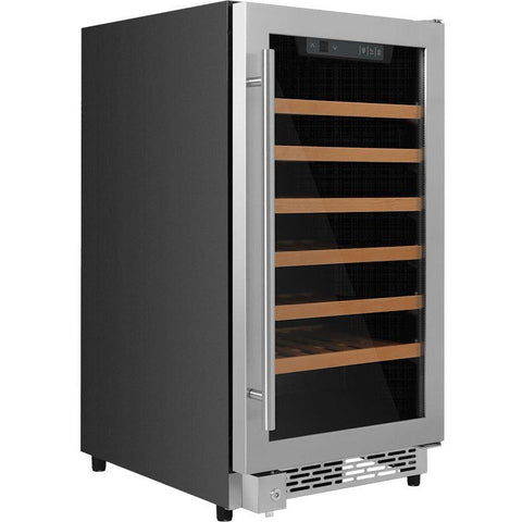 "THOR Kitchen 18"" 40-Bottle Single Zone Built-in Wine Cooler (HWC2405U) - Shop For Kitchens"