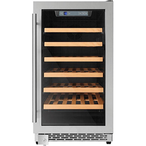 "THOR Kitchen 18"" 40-Bottle Single Zone Built-in Wine Cooler (HWC2405U)"