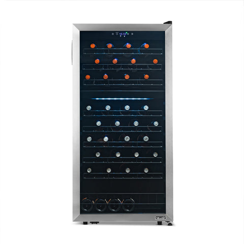 NewAir Freestanding 76 Bottle Dual Zone Wine Refrigerator (NWC076SS00) - Shop For Kitchens