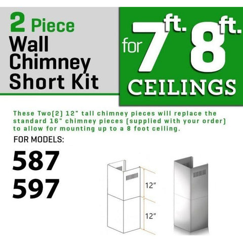 ZLINE Short Kit for 8ft. Ceilings (SK-587/597) - Shop For Kitchens