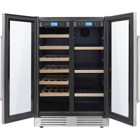 "THOR Kitchen 24"" 21-Bottles and 95-Cans Dual Zone Wine Cooler (TBC2401DI)"