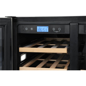 "THOR Kitchen 24"" 21-Bottles and 95-Cans Dual Zone Wine Cooler (TBC2401DI) - Shop For Kitchens"