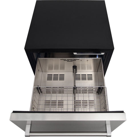 "Image of THOR Kitchen 24"" Indoor/Outdoor 5.4 cu. ft. Undercounter Double Drawer Refrigerator in Stainless Steel (TRF2401U) - Shop For Kitchens"
