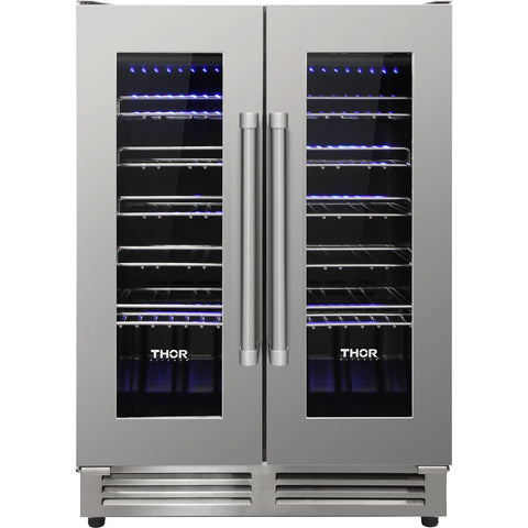 THOR Kitchen 42 Bottle Dual Zone Built-in Wine Cooler (TWC2402) - Shop For Kitchens
