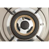 "Image of ILVE 24"" Nostalgie Series Gas Range with Brass Trim in Matte Graphite (UPN60DVGGM) - Shop For Kitchens"