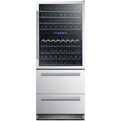 "FORNO 30"" Dual Zone Wine Cooler & Refrigerator Drawer (FWCDR6661-30) - Shop For Kitchens"
