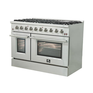 "FORNO 48"" Galiano Gas Range with 8 Burners and Convection Oven (FFSGS6244-48) - Shop For Kitchens"