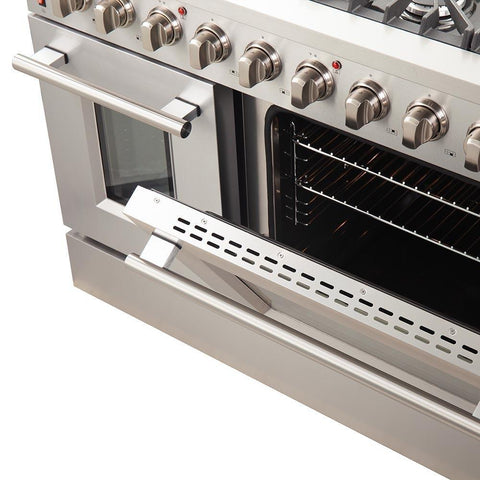 "Image of FORNO 48"" Galiano Gas Range with 8 Burners and Convection Oven (FFSGS6244-48) - Shop For Kitchens"