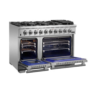 "FORNO 48"" Titanium Professional Gas Range with 8 Burners and Griddle  (FFSGS6260-48) - Shop For Kitchens"