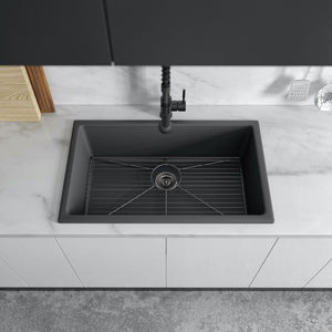ZLINE 30 inch Rome Dual Mount Fireclay Sink in Charcoal (FRC5124-CL-30) - Shop For Kitchens
