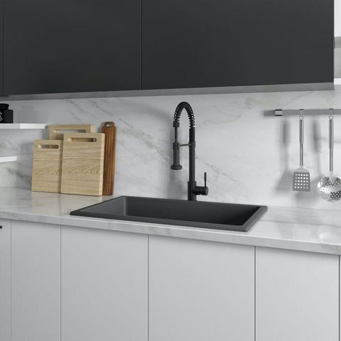 Image of ZLINE 30 inch Rome Dual Mount Fireclay Sink in Charcoal (FRC5124-CL-30) - Shop For Kitchens