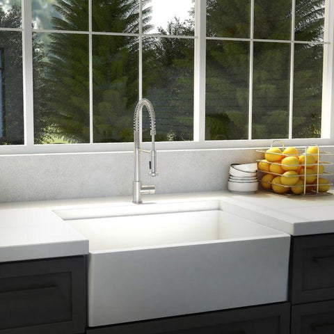 Image of ZLINE Apollo Kitchen Faucet in Brushed Nickel (APL-KF-BN) - Shop For Kitchens