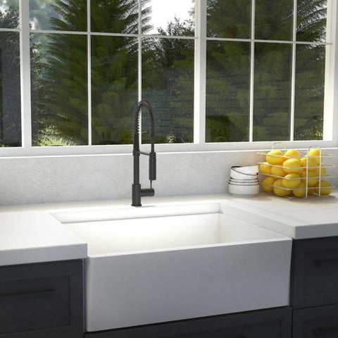 ZLINE Sierra Kitchen Faucet in Matte Black (SRA-KF-MB) - Shop For Kitchens