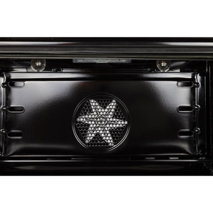 "ILVE 36"" Nostalgie - Dual Fuel Range with 5 Sealed Brass Burners - 3 cu. ft. Oven - Brass Trim in Matte Graphite (UPN90FDMPM) - Shop For Kitchens"
