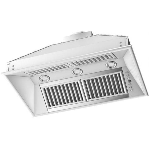Image of ZLINE 28 in. 1200 CFM Range Hood Island Insert in Stainless Steel (721i-28) - Shop For Kitchens