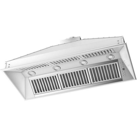 Image of ZLINE 46 in. 1200 CFM Range Hood Island Insert in Stainless Steel (824i-46) - Shop For Kitchens