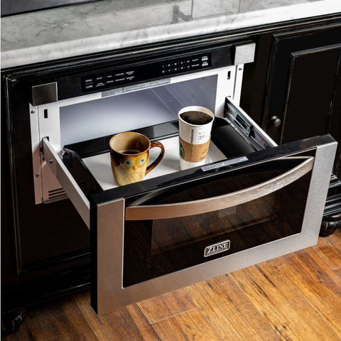 "Image of ZLINE 24"" 1.2 cu. ft. Microwave Drawer in Stainless Steel (MWD-1) - Shop For Kitchens"