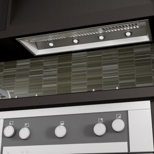 Image of ZLINE 34 in. 1200 CFM Outdoor Range Hood Insert in Stainless Steel (698-304-34) - Shop For Kitchens