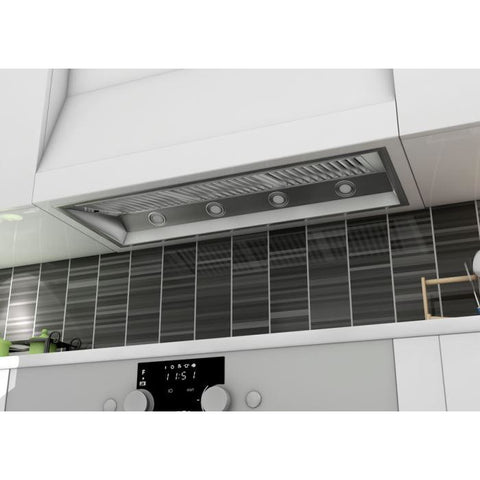 Image of ZLINE 46 in. 1200 CFM Outdoor Range Hood Insert in Stainless Steel (698-304-46) - Shop For Kitchens