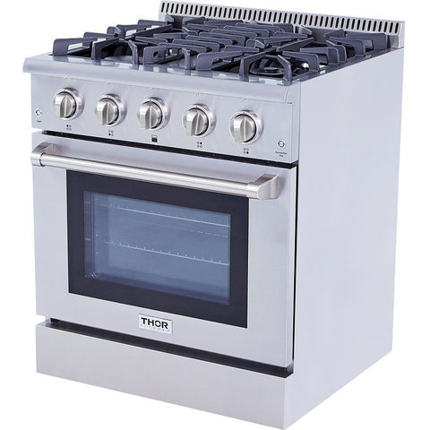 "Image of Pre-Converted Propane THOR Professional 30"" Dual Fuel Range in Stainless Steel (HRD3088ULP) - Shop For Kitchens"