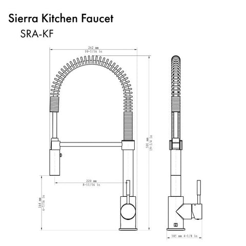 Image of ZLINE Sierra Kitchen Faucet in Matte Black (SRA-KF-MB) - Shop For Kitchens