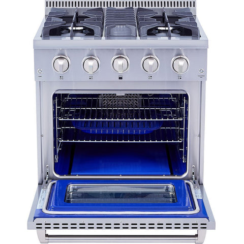 "Image of Thor Kitchen 30"" 4.2 cu. ft. Professional Gas Range in Stainless Steel (HRG3080U) - Shop For Kitchens"
